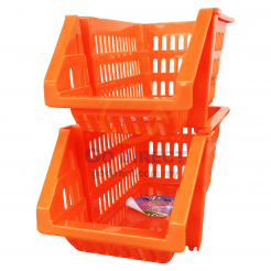 Stackable Space Basket (7405) 2 units