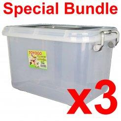 [B] 12L Storage Box (9904) 3 units