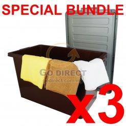 [B] 50L Storage Box (9710B) 3 units