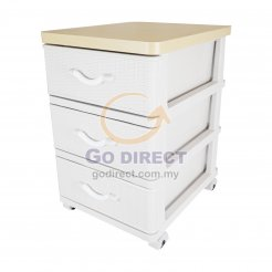 3T Wood Top Prattan Storage Drawer (STWH3P) 1 unit