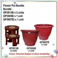 [S] Flower Pot Bundle (GP2913B X 2 + GP3005B + GP3007B)