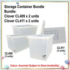 [S] Storage Container Bundle (CL409 X 2 + CL411 X 2)