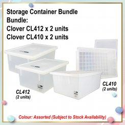 [S] Storage Container Bundle (CL412 X 2 + CL410 X 2)