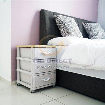 3T Wood Top Prattan Storage Drawer (STWH3P) 1 unit