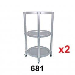 3-Tier Serving Cart (Code: 681) 2 unit