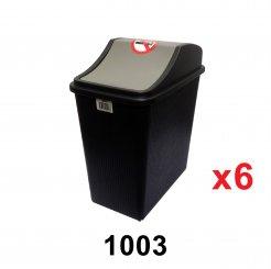 10L Flip Dustbin (1003) 6 units