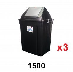 73L Flip Dustbin (1500) 3 unit