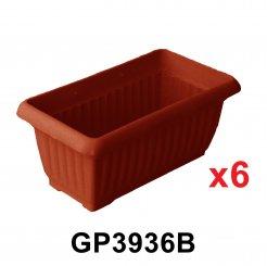 Rectangular Flower Pot (GP3936) 6 unit
