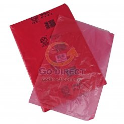 "8"" X 12"" Red Plastic Bag (P2029RD) ~85 pcs"