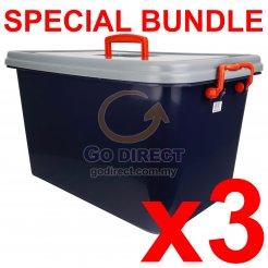 [B] 40L Storage Box (9906B) 3 units