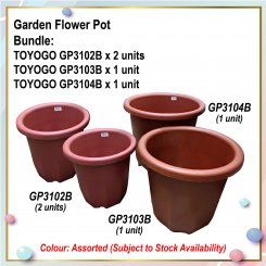 [S] Flower Pot Bundle (GP3102B X 2 + GP3103B + GP3104B)