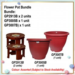 [S] Flower Pot Bundle (GP2913B X 2 + GP3005B + GP3007B)