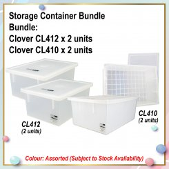 [S] Storage Container Bundle (CL412 X 2 + CL410 X 2)