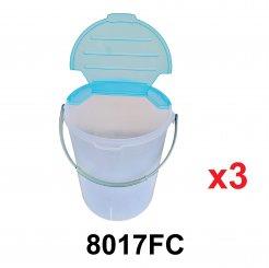 47L Semi Open Round Container (8017FC) 3 unit