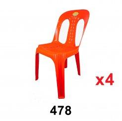 Plastic Chair (478) 4 unit